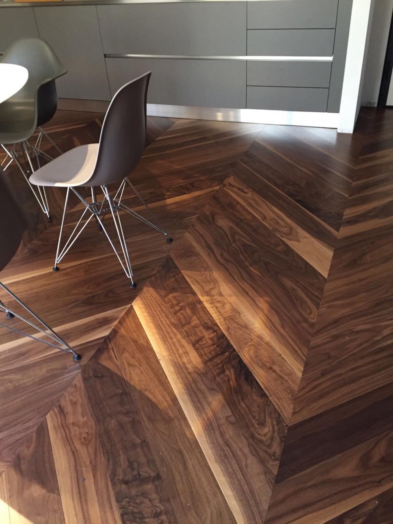 Cucina Soggiorno Grande : Pavimento in legno di noce a vicenza fratelli pellizzari