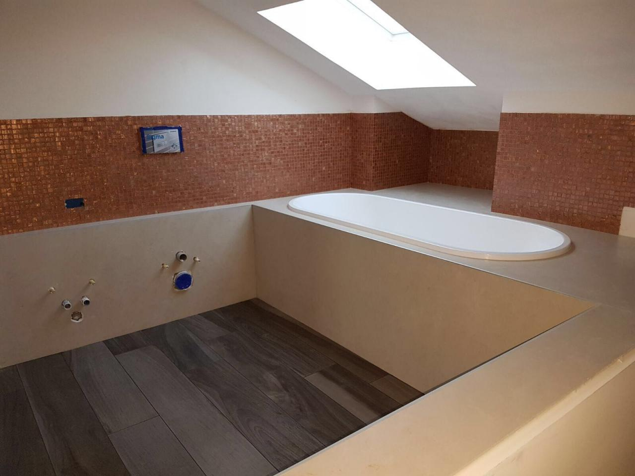Bagno mansarda progettato e realizzato a vicenza fratelli pellizzari