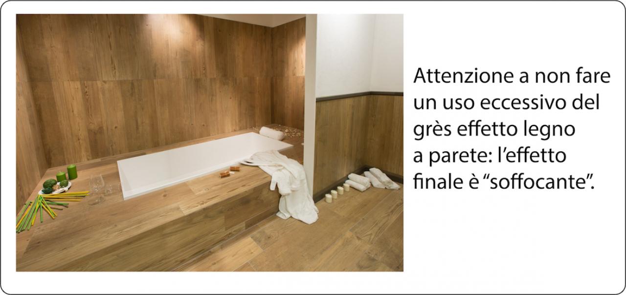 Gr s effetto legno a rivestimento fratelli pellizzari - Piastrelle bagno legno ...