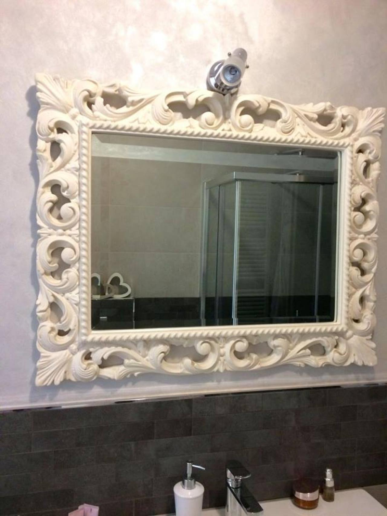 Specchi da bagno fratelli pellizzari - Specchio cornice nera barocca ...