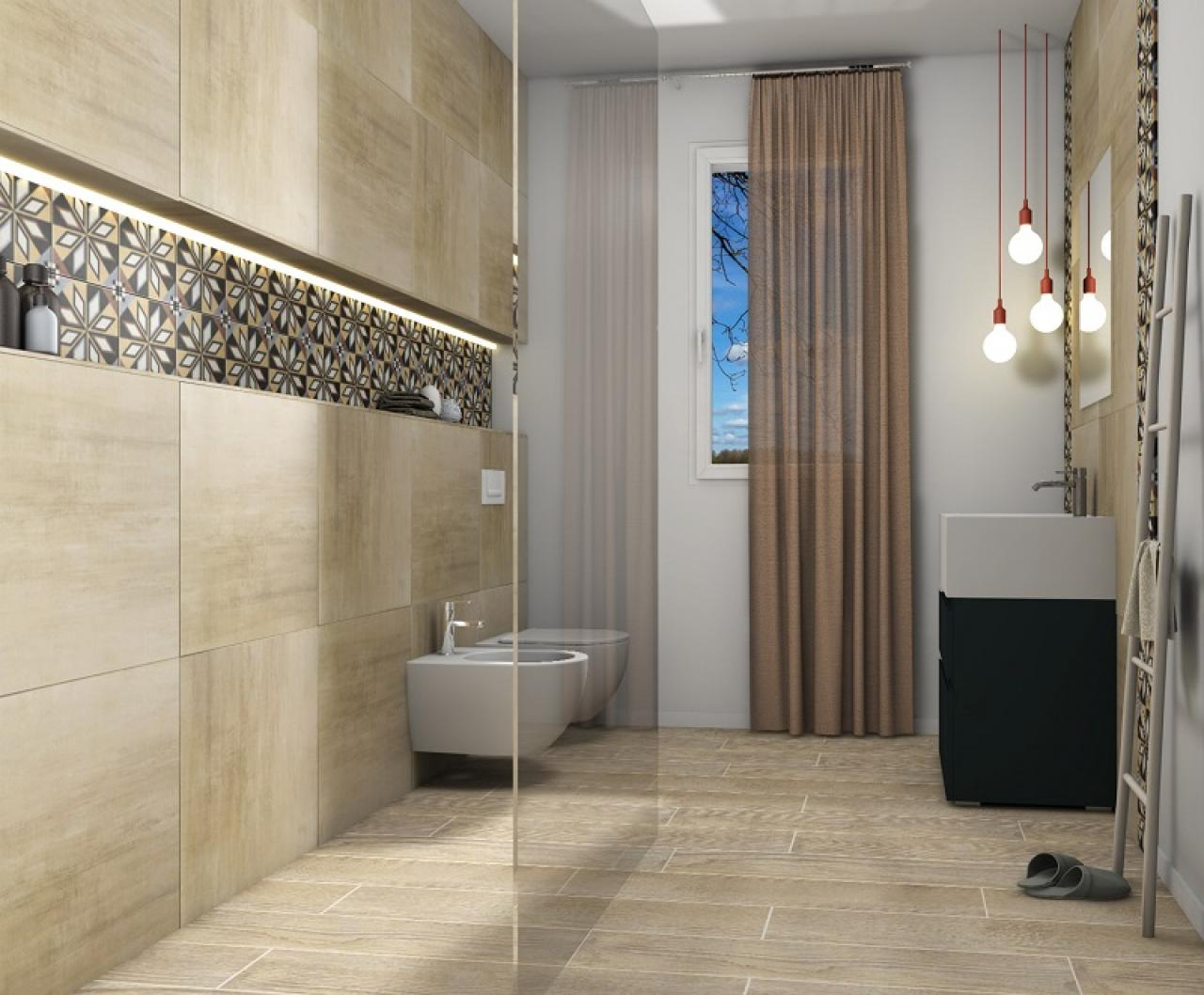 Il beige e i colori da abbinare nella stanza da bagno fratelli pellizzari - Piastrelle color tortora ...