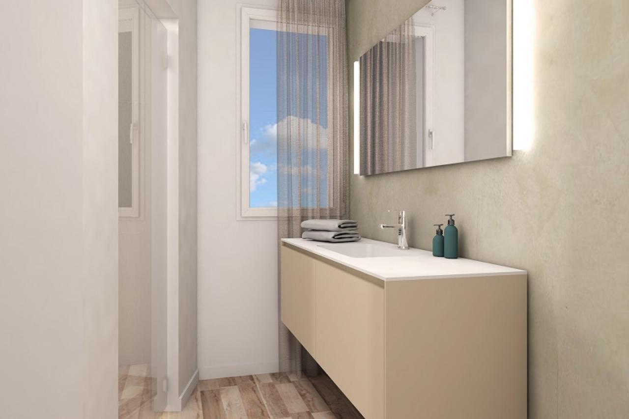 Il beige e i colori da abbinare nella stanza da bagno fratelli pellizzari - Bagni chimici vicenza ...