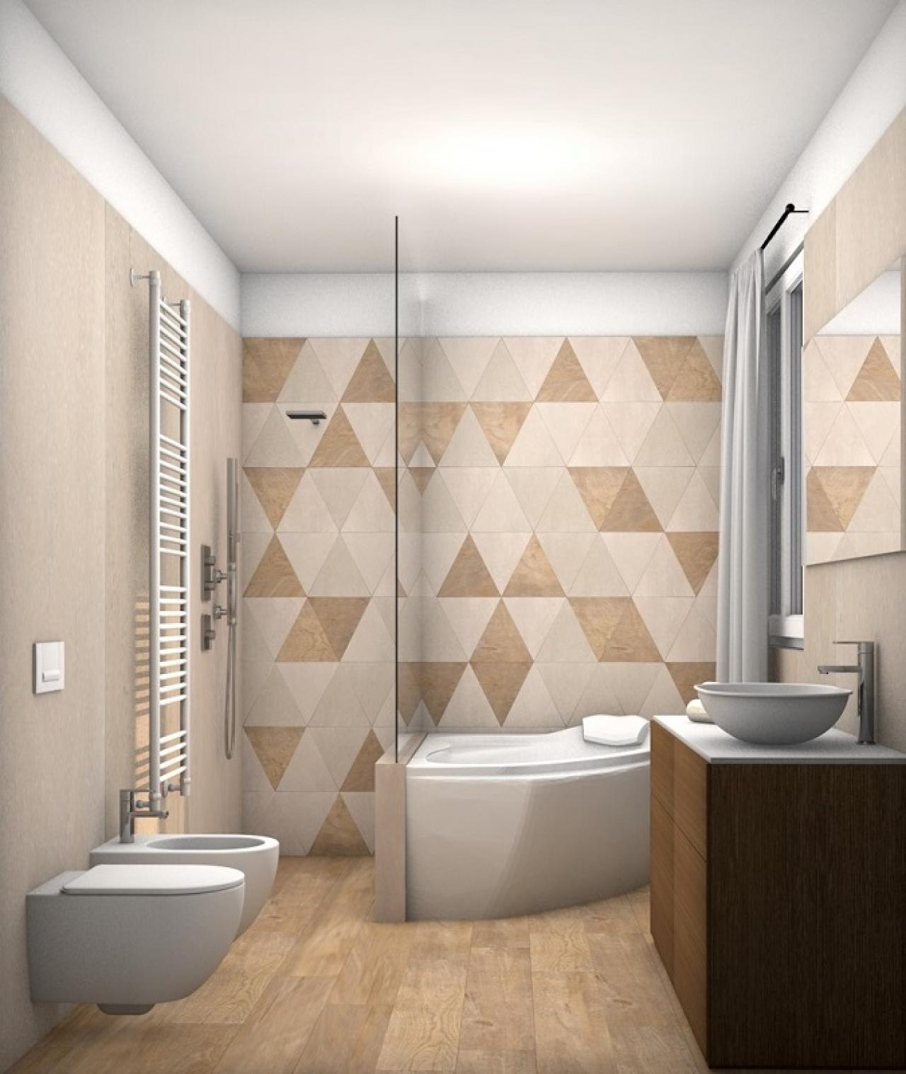 Il beige e i colori da abbinare nella stanza da bagno fratelli pellizzari - Piastrelle bagno beige ...