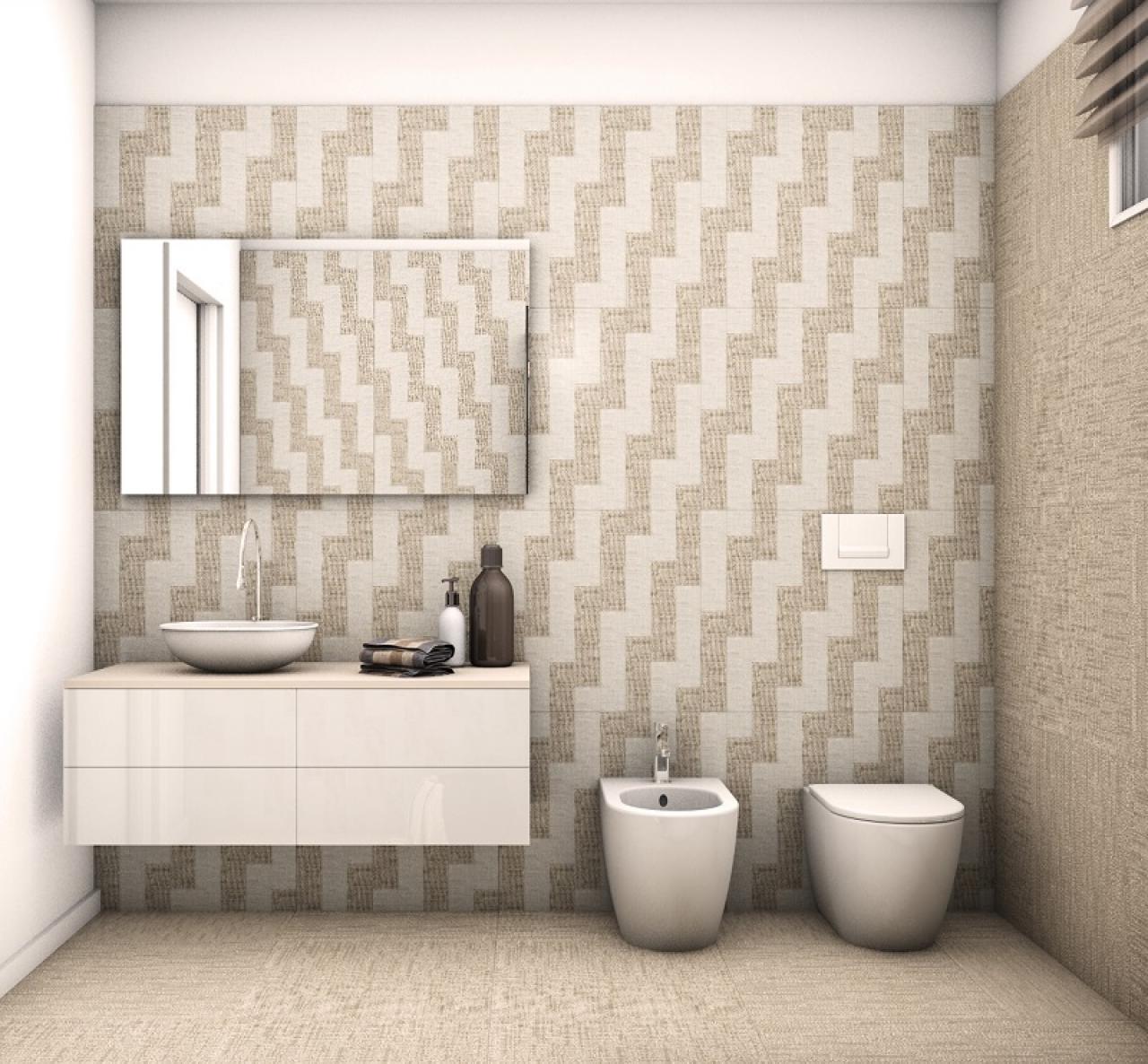 Il beige e i colori da abbinare nella stanza da bagno ...