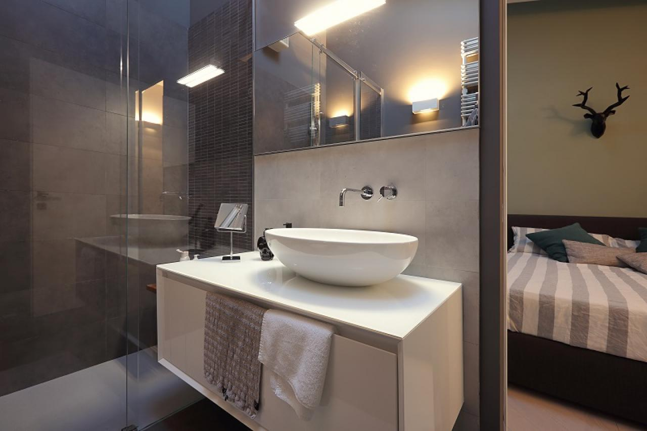 Bagno In Camera Design : Attico ad arzignano: design sofisticato fratelli pellizzari
