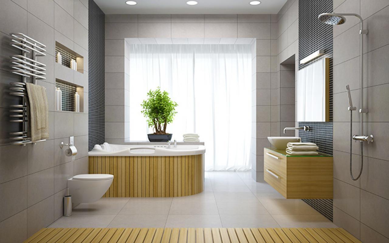 Si vede un bagno arredato secondo la filosofia feng shui with arredamento feng shui - Bagno chimico in casa ...