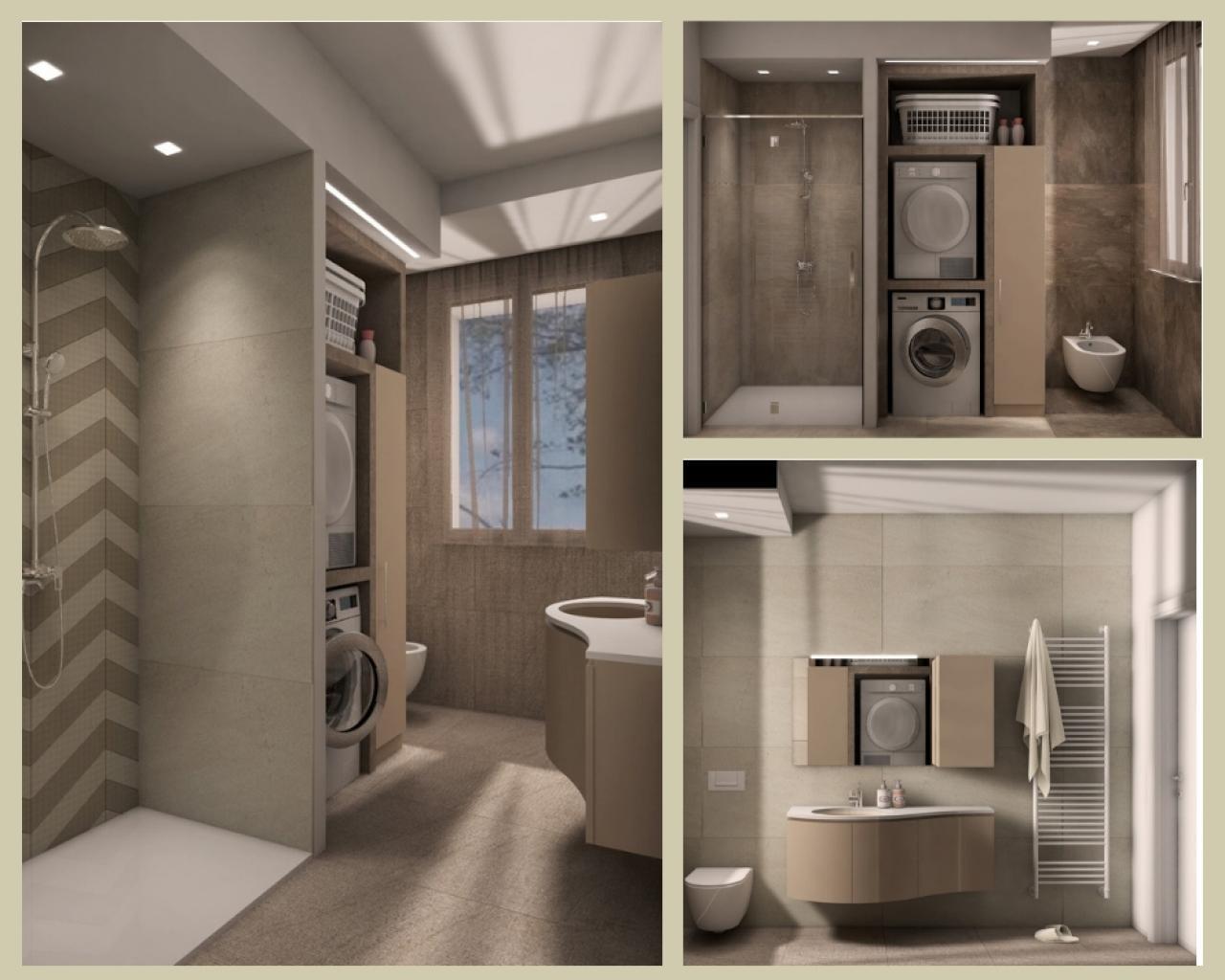 Mobile Bagno Con Colonna Lavatrice bagno lavanderia moderno | fratelli pellizzari