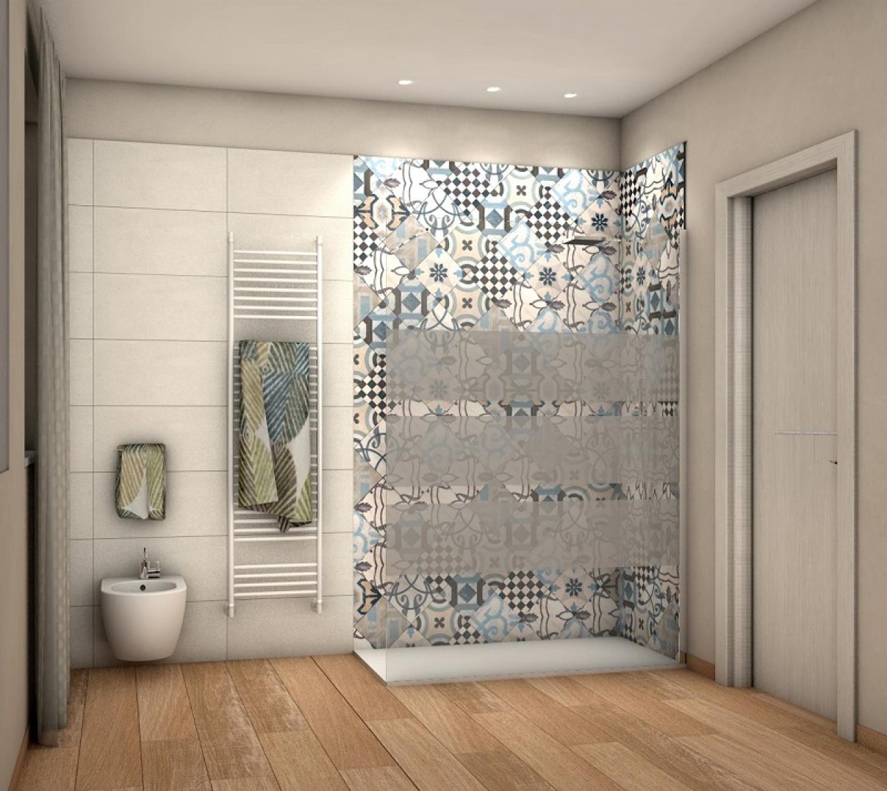 Progetti bagno lo stile di ilaria fratelli pellizzari - Bagno con cementine ...