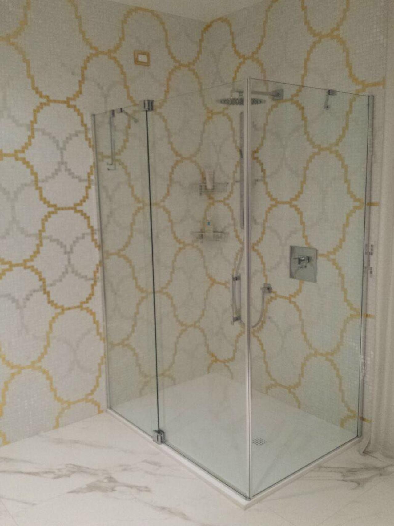 Mosaico Bagno Bianco E Oro Vicenza