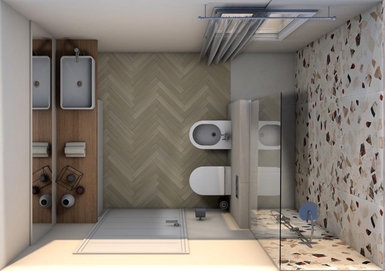 Progetti bagno lo stile di yasmine fratelli pellizzari - Piastrelle bagno legno ...