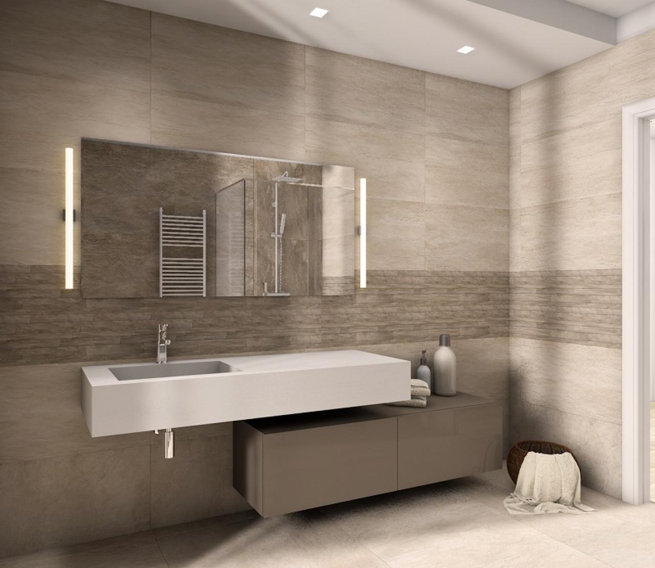 Progetti bagno lo stile di yasmine fratelli pellizzari - Piastrelle pietra bagno ...