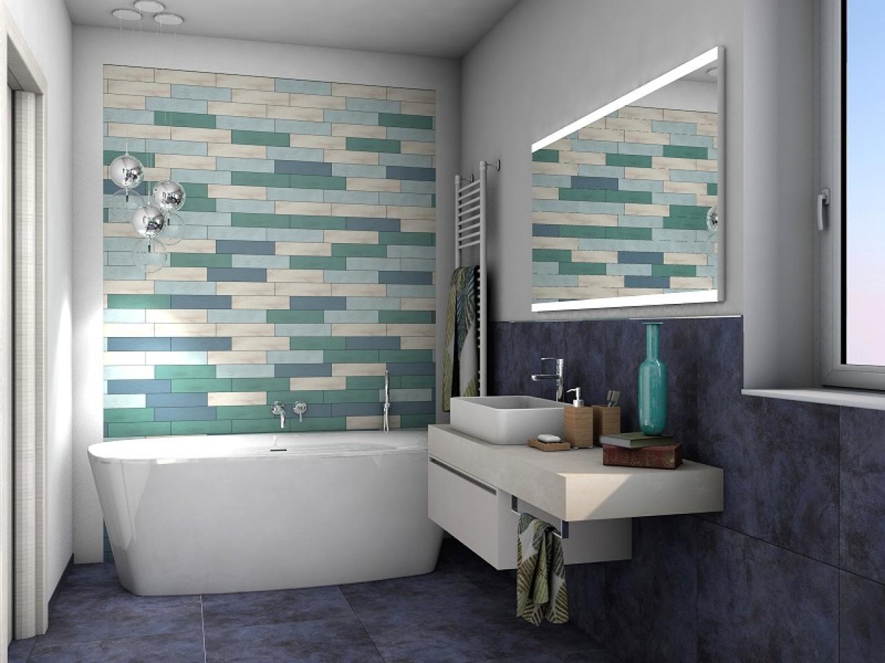 Bagni Colorati Blu : Rinnovare il bagno con sanitari e lavabi colorati