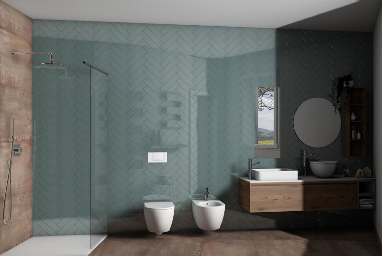 Bagni Moderni Verde Acqua : Progetti bagno lo stile di yasmine fratelli pellizzari