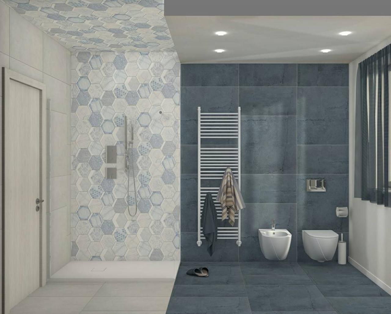 Bagno bianco e blu lo stile mediterraneo fratelli for Arredamento stile mediterraneo