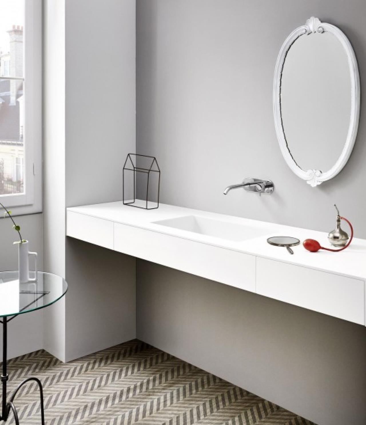 Piano Lavabo In Corian arredamento in corian per il bagno - showroom arredobagno a