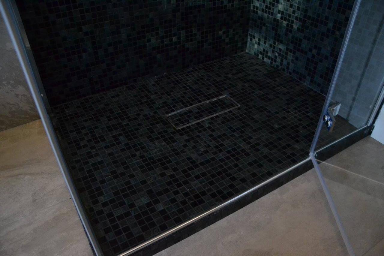 Mosaico doccia trendy vendita calda nero piazza mosaico peva bagno muffa proof trasparente su - Muffa nella doccia ...