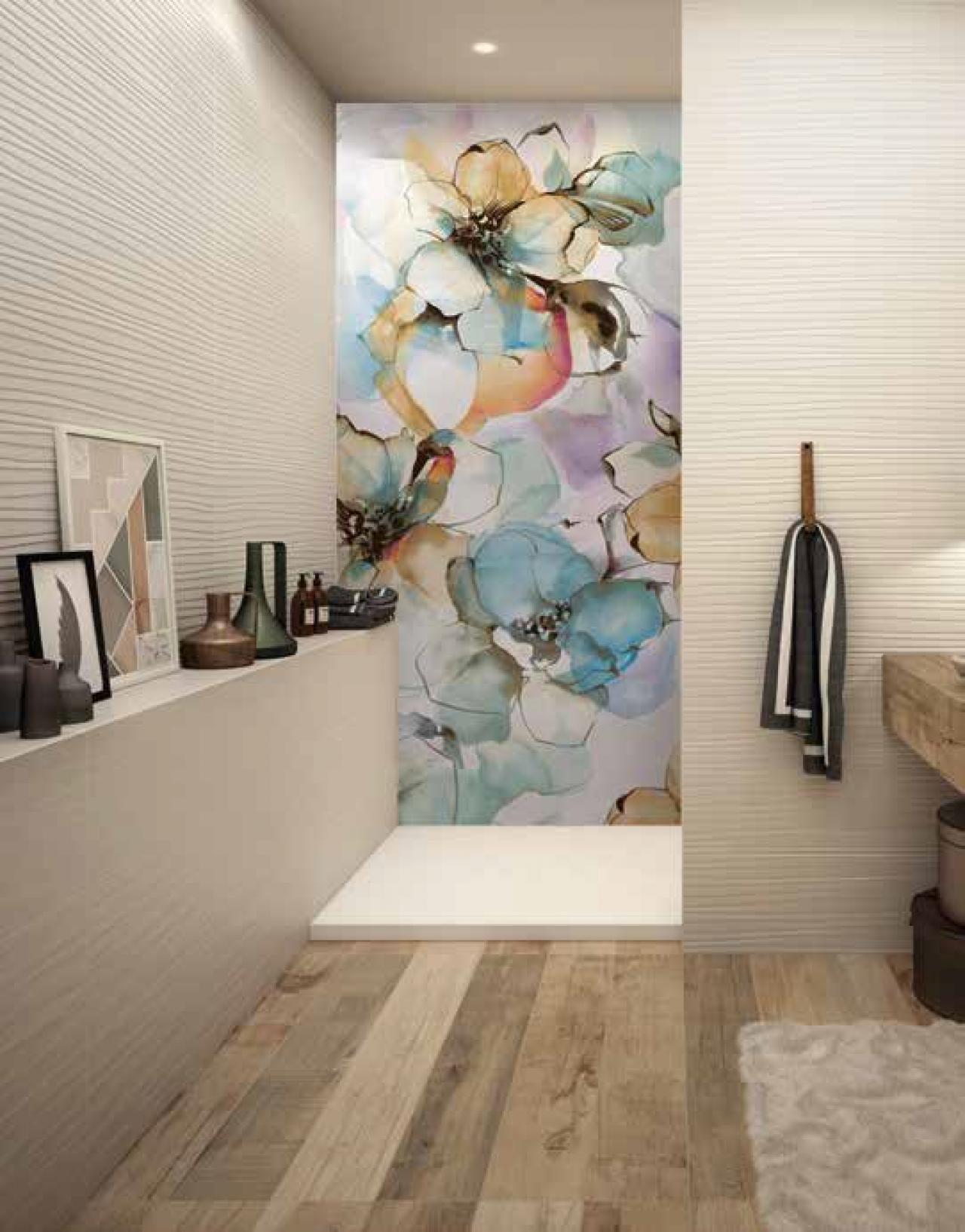 Nuove tendenze grandi lastre decorate e colorate in gr s - Incollare su piastrelle bagno ...