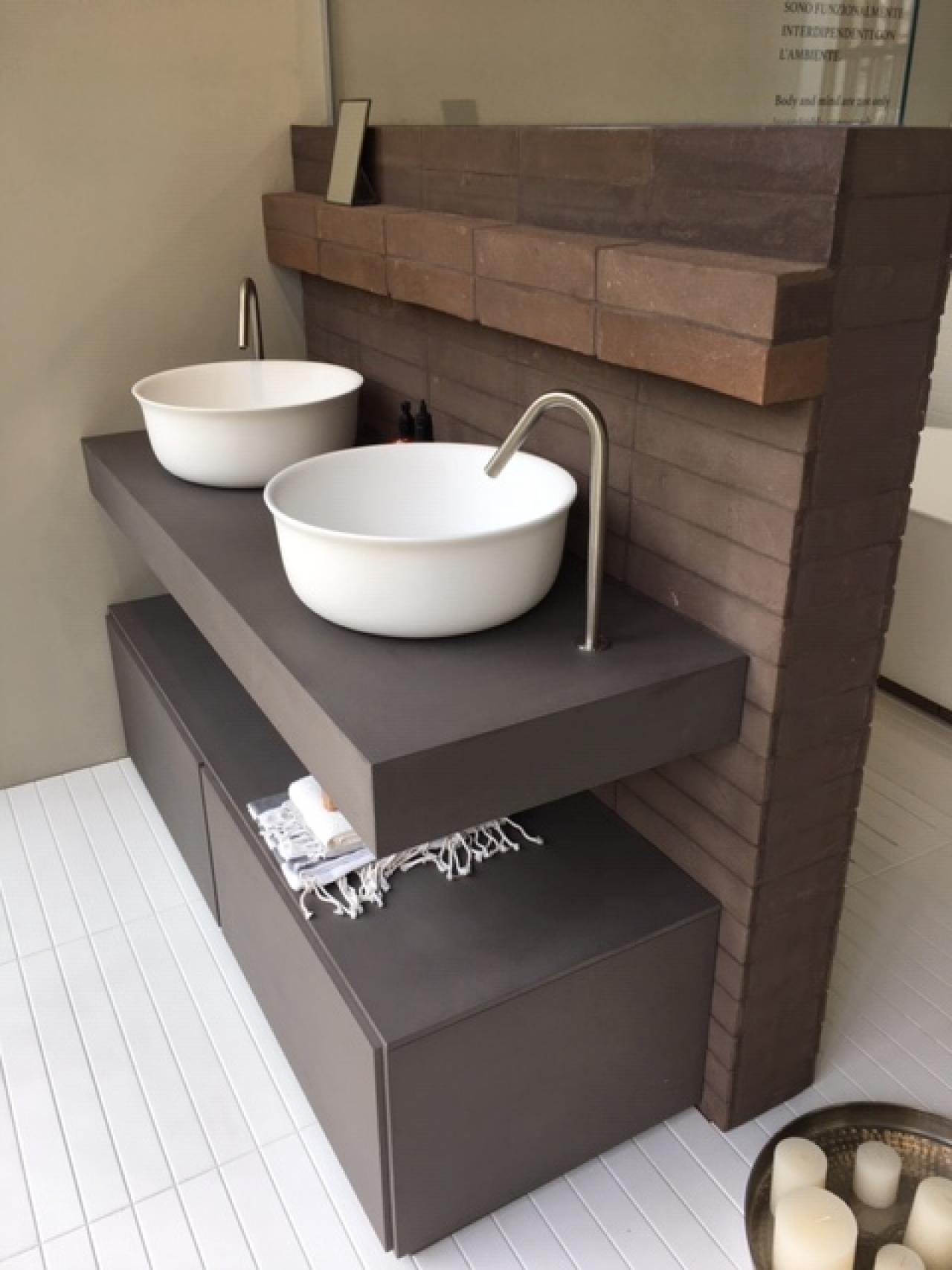 Il lavabo doppio in bagno | Fratelli Pellizzari