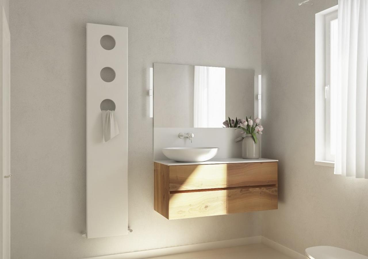 Bagno Stile Minimalista : Interno minimalista del bagno di stile con la finestra panoramica