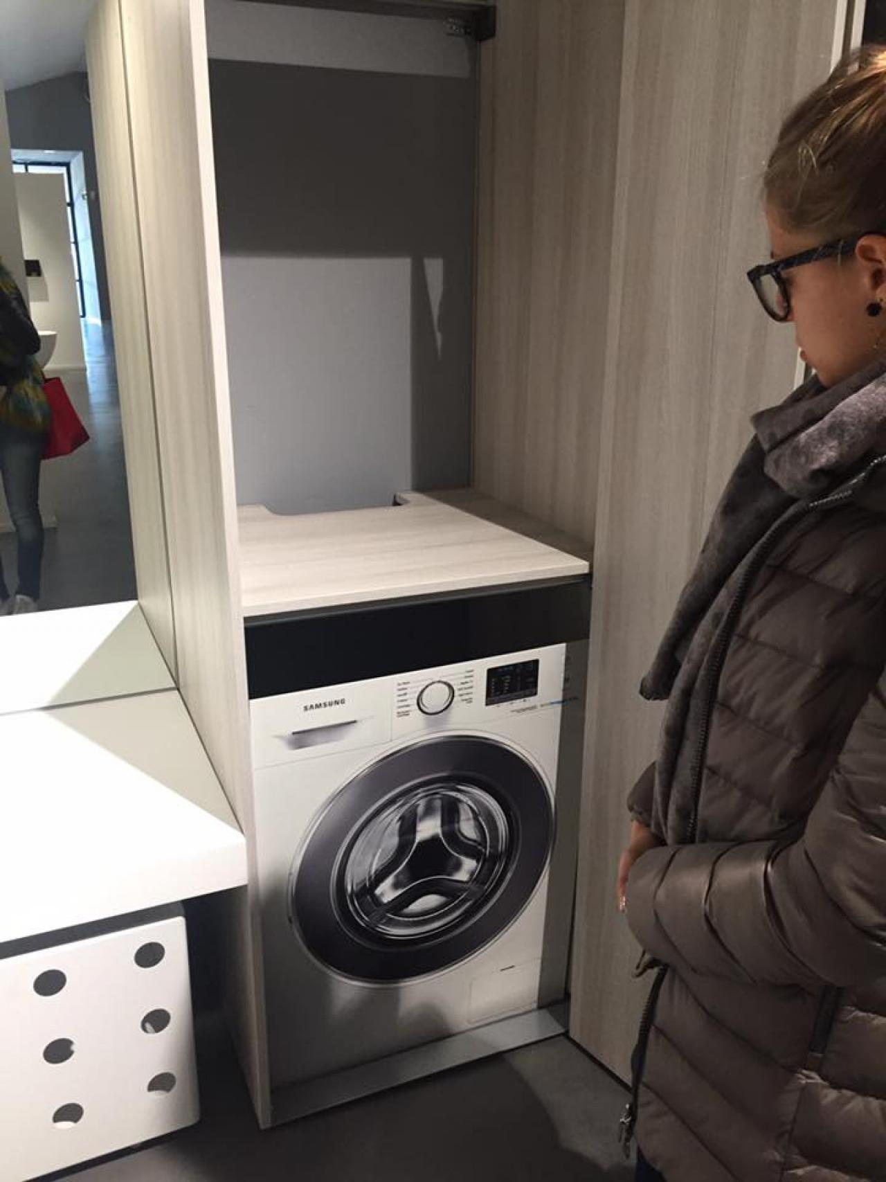 Mobile Lavello E Lavatrice bagno lavanderia moderno | fratelli pellizzari