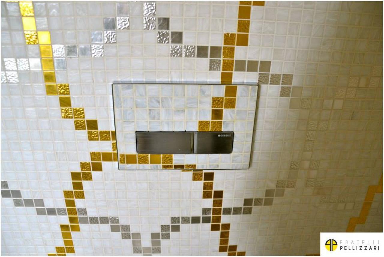 Ron lussuoso scintilla il mosaico ed il lavandino dell oro verde