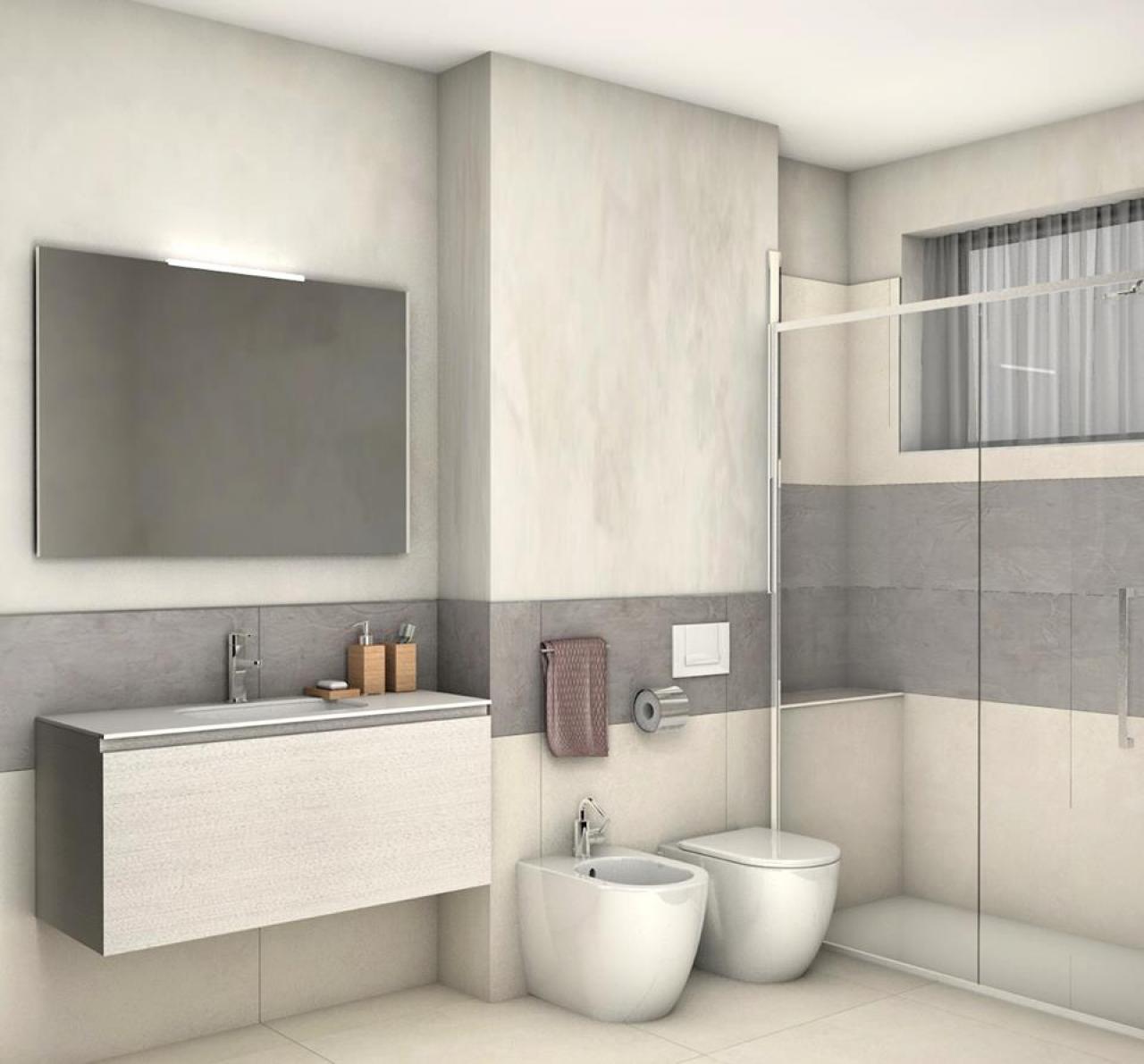 Rifacimento bagni a vicenza fratelli pellizzari for Bagno moderno design